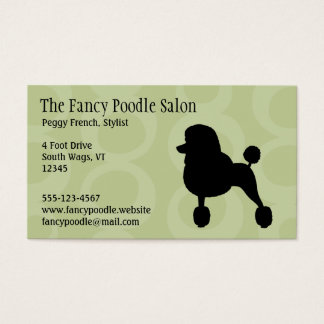 Standard Black Poodle Silhouette Business Card