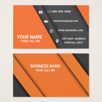 Standard business Card Dark orange Plain Modern