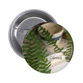 """Standard button 2.25"""" round with fern"""