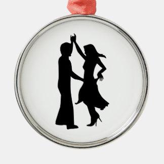 Standard dancing couple metal ornament