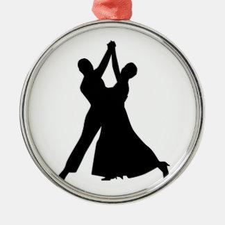 Standard dancing Silver-Colored round ornament