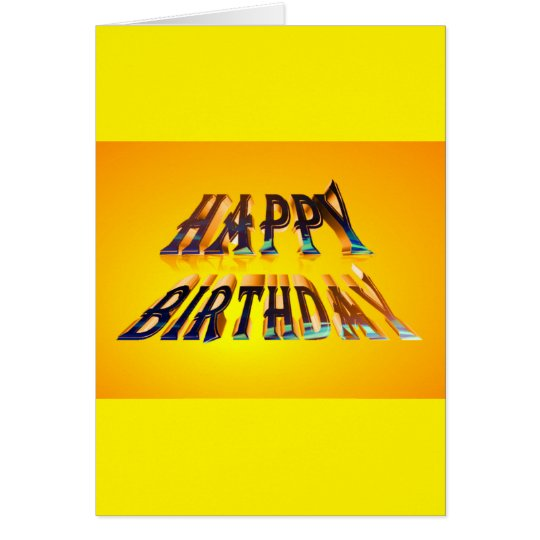 standard happy birthday Greeting Card