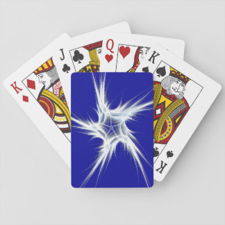 Standard Index Playing Cards Abstract Blue/White