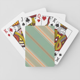 Standard Index Playing Cards Diagonal Stripes