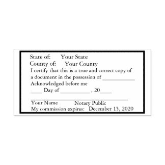 Standard Notary Public Copy Stamp