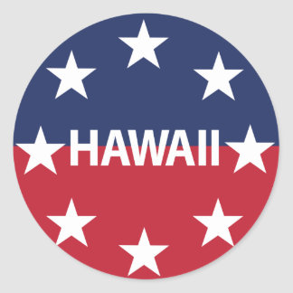 Standard of the governor of Hawaiʻi Classic Round Sticker