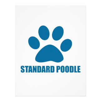 STANDARD POODLE DOG DESIGNS LETTERHEAD