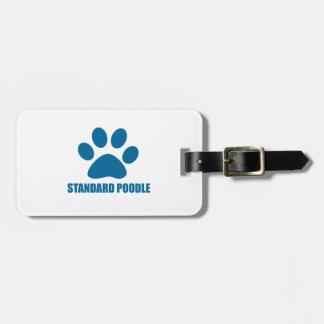 STANDARD POODLE DOG DESIGNS LUGGAGE TAG