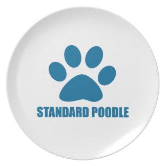 STANDARD POODLE DOG DESIGNS PLATE