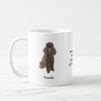 Standard Poodle Mug - With two images and a motif