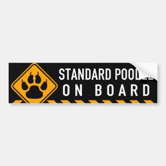 Standard Poodle On Board Bumper Sticker