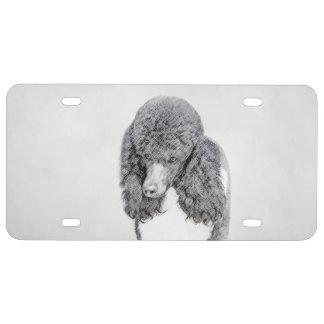Standard Poodle (Parti) License Plate