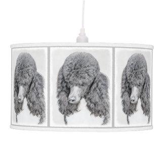 Standard Poodle (Parti) Pendant Lamp