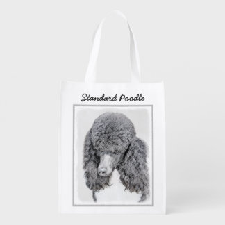 Standard Poodle (Parti) Reusable Grocery Bag