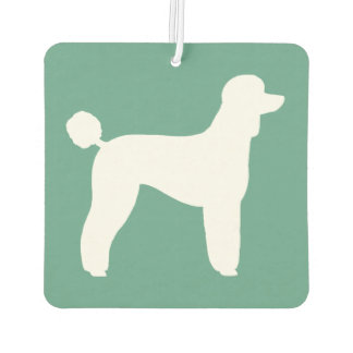 Standard Poodle Silhouette Car Air Freshener