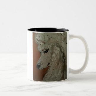 Standard Poodle Two-Tone Coffee Mug