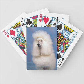 Standard Poodle White Dog Playing Cards