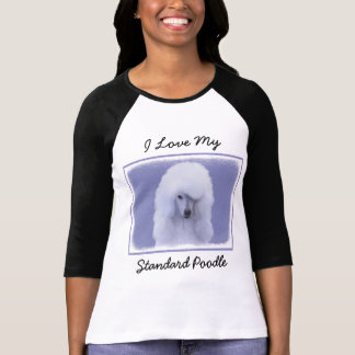 Standard Poodle White Painting - Original Dog Art T-Shirt