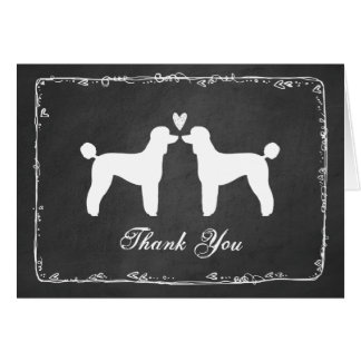 Standard Poodles Wedding Thank You Card