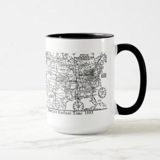 Standard Railway Time Zones 1883 Mug