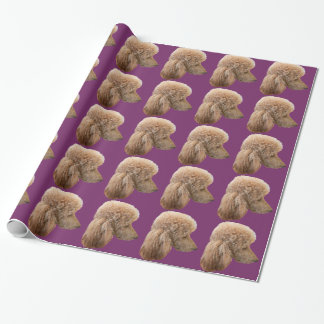 STANDARD RED POODLE WRAPPING PAPER