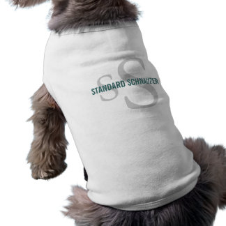 Standard Schnauzer Breed Monogram Design Dog Clothes