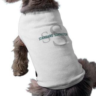 Standard Schnauzer Breed Monogram Design Doggie T-shirt