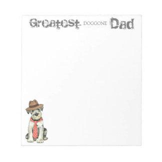 Standard Schnauzer Dad Notepad