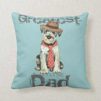 Standard Schnauzer Dad Throw Pillow