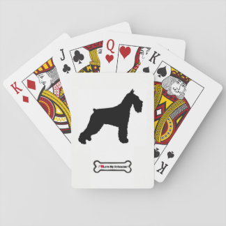 Standard Schnauzer Deck Playing Cards