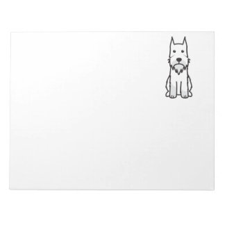 Standard Schnauzer Dog Cartoon Notepad