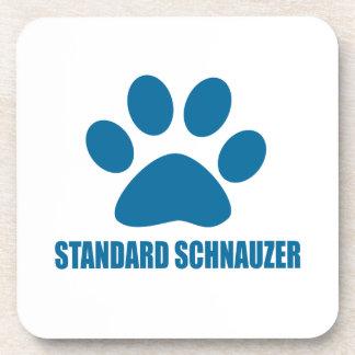 STANDARD SCHNAUZER DOG DESIGNS COASTER