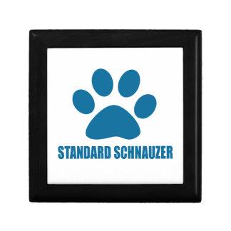 STANDARD SCHNAUZER DOG DESIGNS GIFT BOX