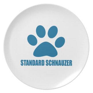 STANDARD SCHNAUZER DOG DESIGNS PLATE