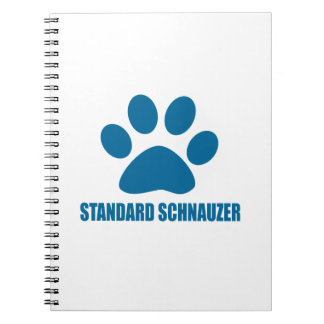STANDARD SCHNAUZER DOG DESIGNS SPIRAL NOTEBOOK