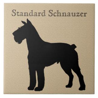 Standard Schnauzer Dog Silhouette Tile
