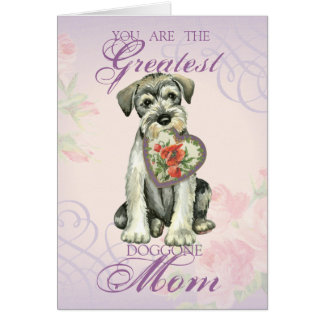 Standard Schnauzer Heart Mom Card
