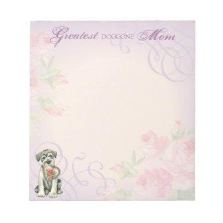Standard Schnauzer Heart Mom Notepad