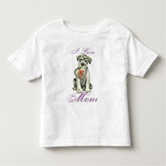 Standard Schnauzer Heart Mom Toddler T-shirt