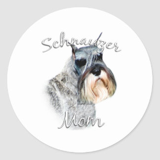 Standard Schnauzer Mom 2 Classic Round Sticker