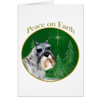 Standard Schnauzer Peace Card