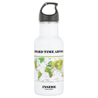 Standard Time Advocate Inside (Time Zones) 532 Ml Water Bottle