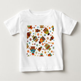 standard with owls and flowers baby T-Shirt
