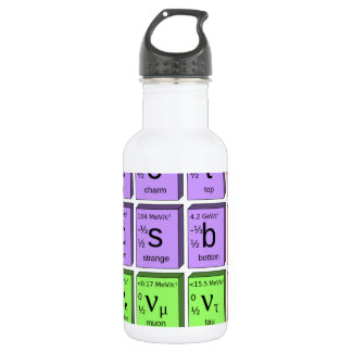 Standart model of elementary particles 532 ml water bottle