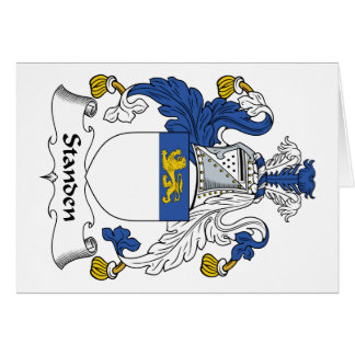Standen Family Crest Card