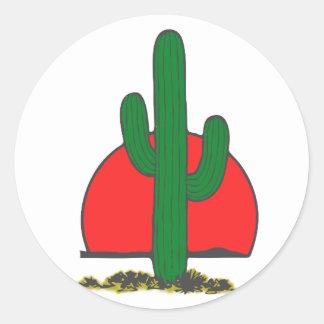 Ständerkaktus Kaktus cactus Classic Round Sticker