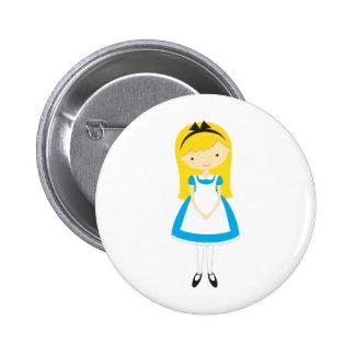 Standing Alice in Wonderland 2 Inch Round Button