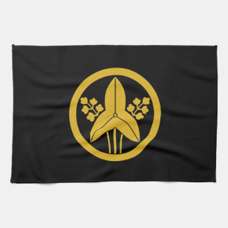 Standing arrowhead in circle kitchen towels