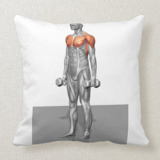 Standing Biceps Curl Throw Pillow