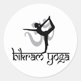 Standing Bow Pulling Pose Bikram Yoga Round Sticker